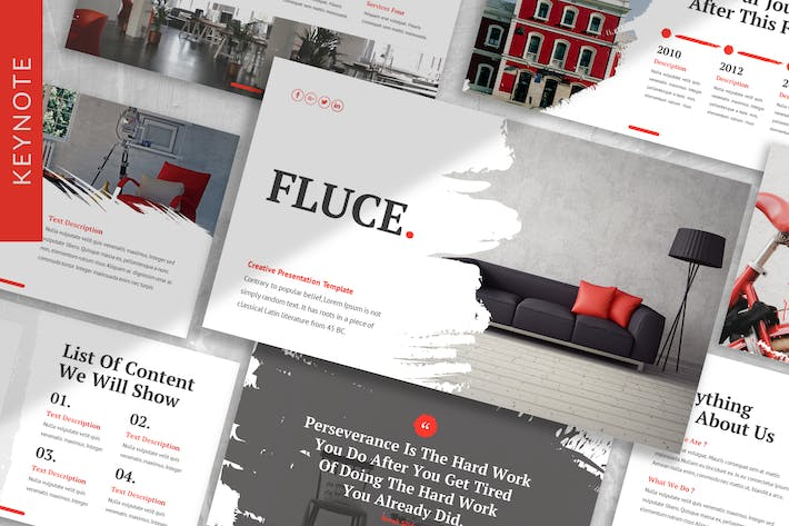 Thumbnail for Fluce - Interior Keynote Template