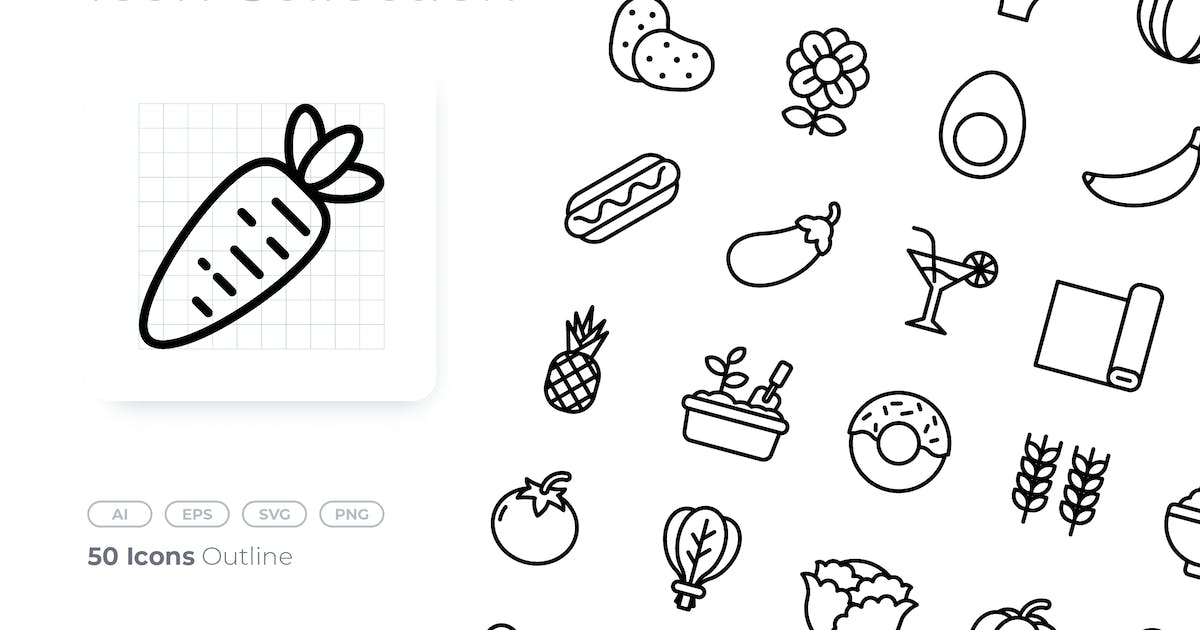 Download Street Market Outline Icon by GoodWare_Std