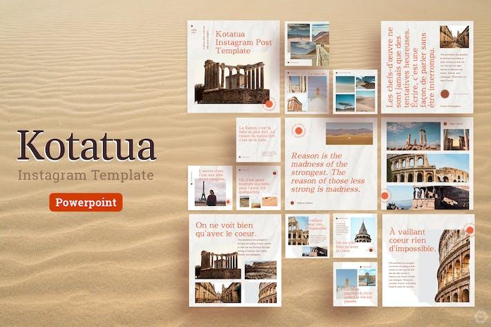Thumbnail for Kotatua - Instagram Сообщение Шаблон Power Point