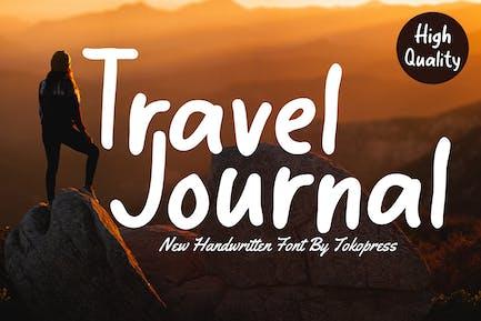 Travel Journal - Handwriting Travel font
