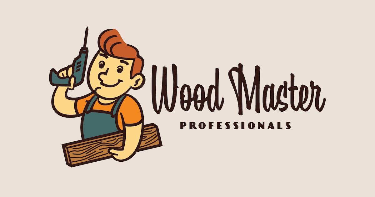 Download Cartoon Retro Smiling Carpenter Mascot Logo by Suhandi