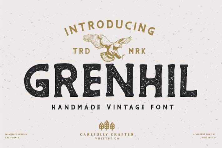 Thumbnail for Grenhil Vintage Font