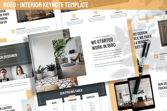 Thumbnail for Roed - Interior Keynote Vorlage