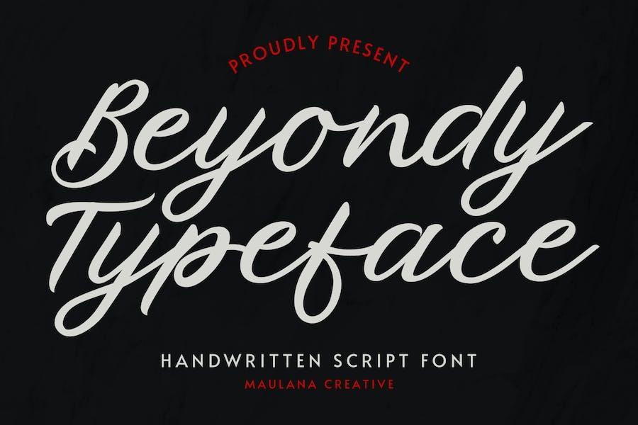 Tipo de letra de escritura manuscrita Beyondy