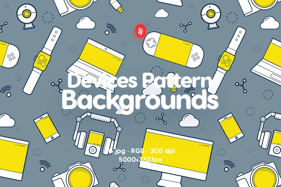 Download Devices Pattern Backgrounds by themefire