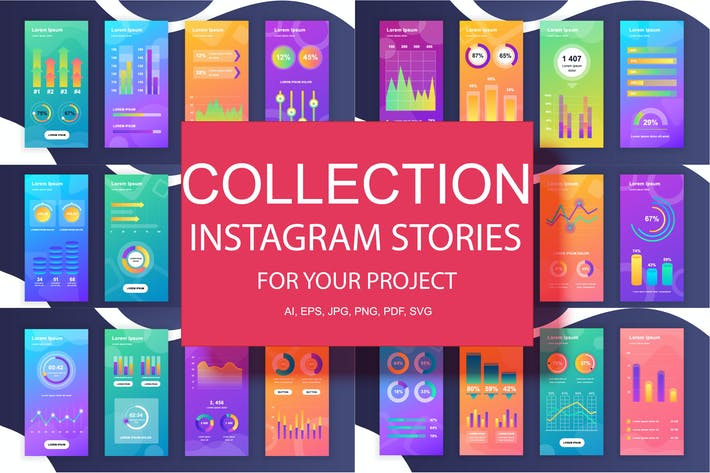 Cover Image For Social Media Instagram Stories Infografiken Design