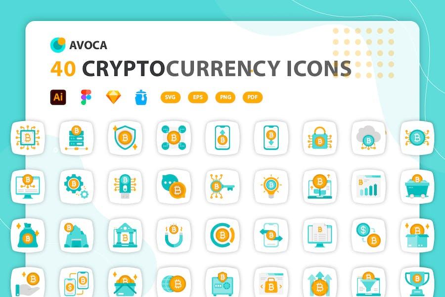 Avoca - Cryptocurrency Icons
