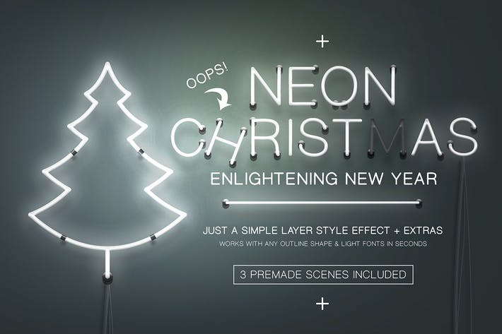 Thumbnail for Neon Christmas Layer Style