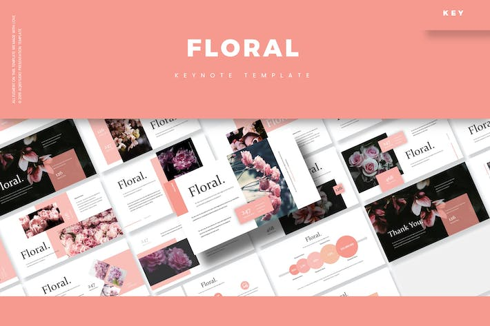 Thumbnail for Floral - Keynote Template