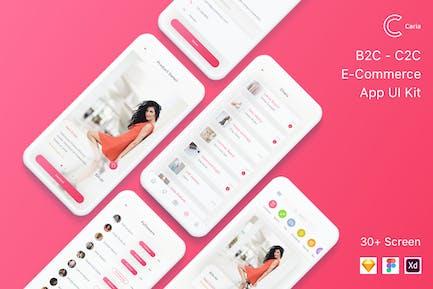 Caria - eCommerce App UI Kit