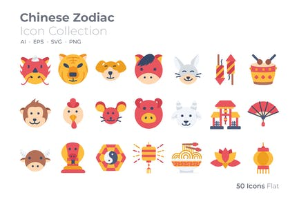 Chinese Zodiac Color Icon
