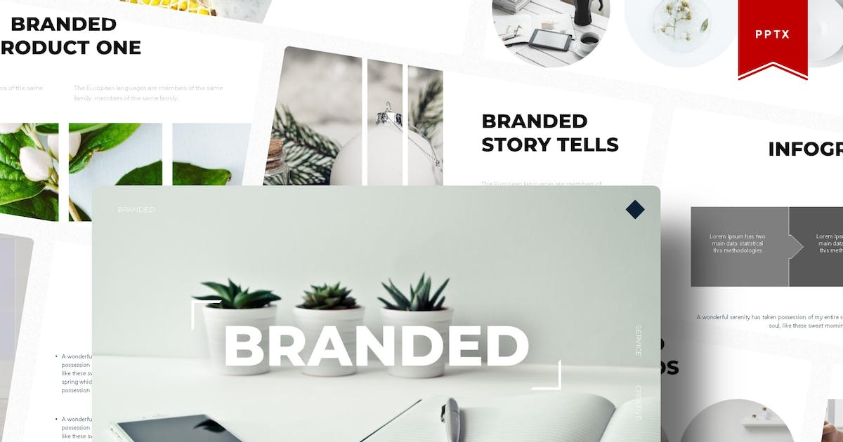 Download The Branded   Powerpoint Template by Vunira