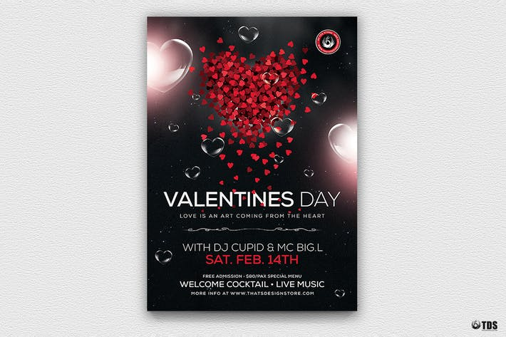 Cover Image For Valentines Day Flyer Template V14