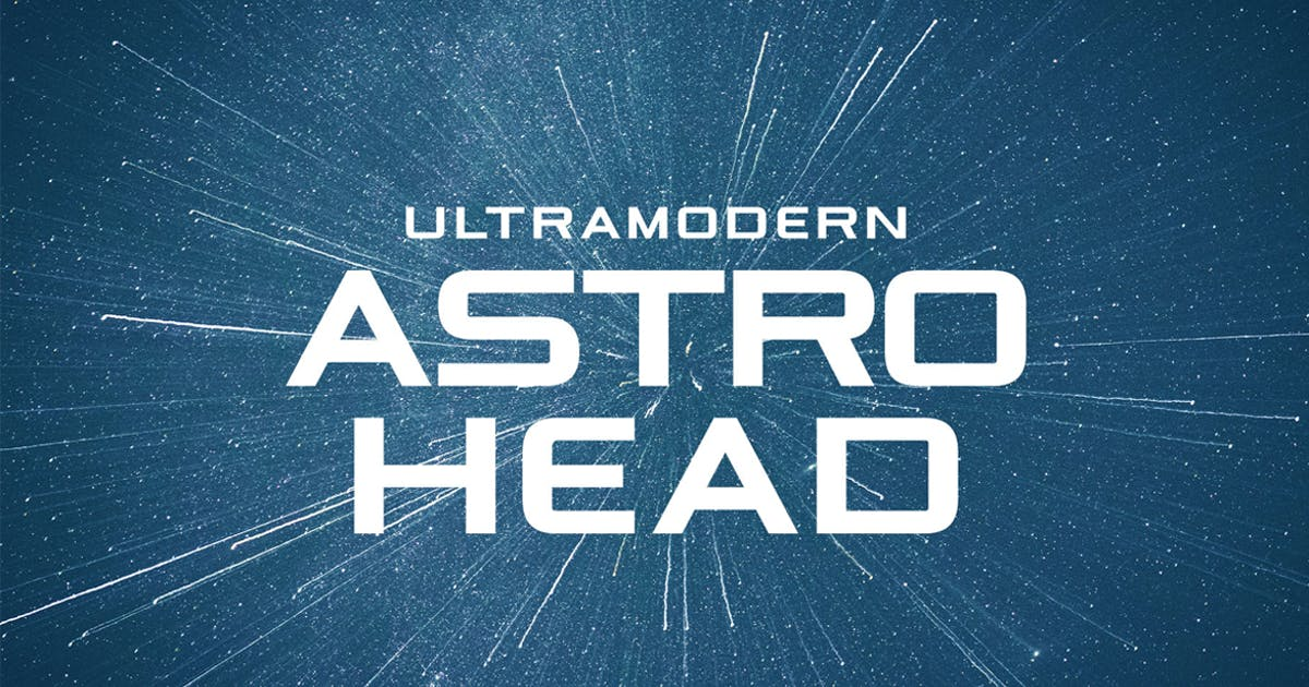 Download Astrohead geometric sans serif typeface by Mihis_Design