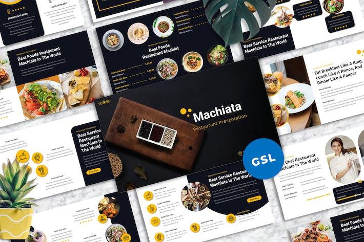Machiata - Restaurant Googleslide Templates