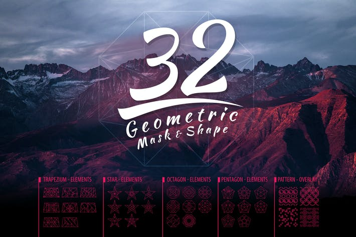 Cover Image For Vector Geometric Mask & Shapes Vol3