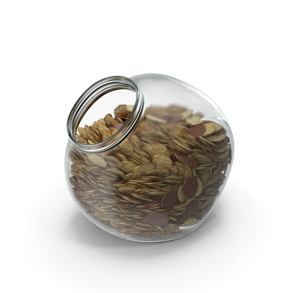 Spherical Jar with Chocolate Covered Crackers