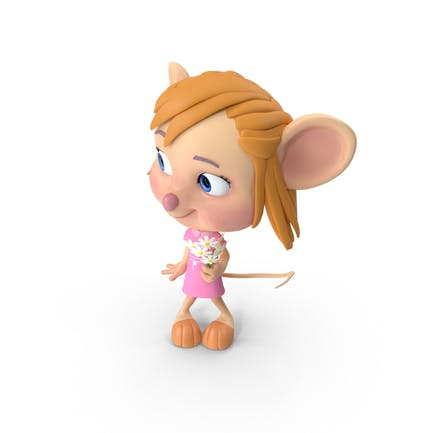 Cartoon Mädchen Maus