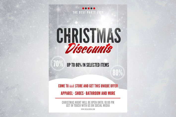 Thumbnail for Christmas Discount Flyer Poster