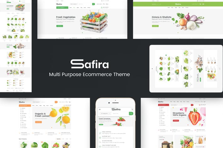 Thumbnail for Safira - Food & Organic Prestashop Tema
