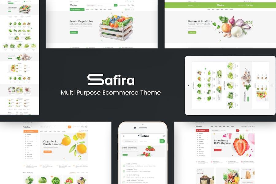 Safira - Food & Organic Prestashop Theme
