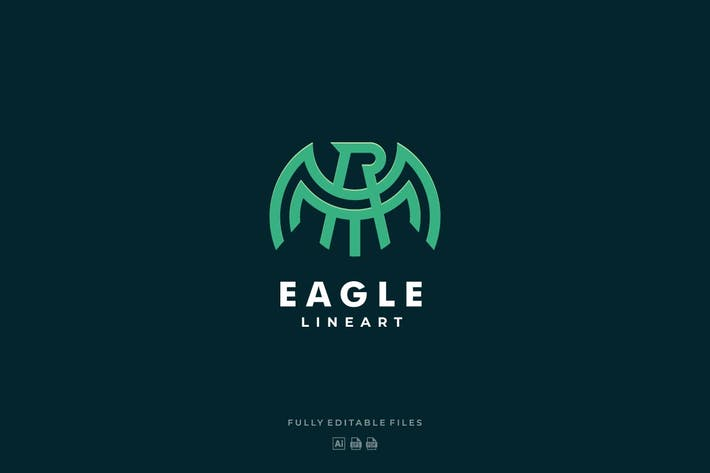 Thumbnail for Abstarct Eagle Line Art Logo