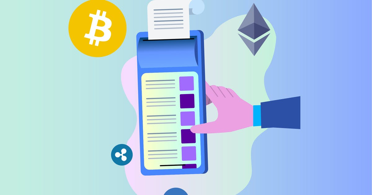 Download POS with Cryptocurrency 2D Illustration by angelbi88