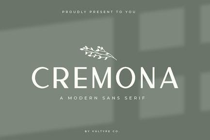 Cremona Minimal Sans Con serifa