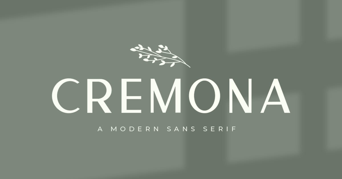 Download Cremona Minimal Sans Serif by vultype