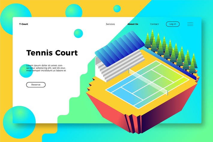 Thumbnail for Tennis Court - Banner & Landing Page