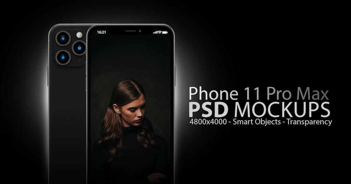 Download Phone 11 PSD Mockups in Black by Abdelrahman_El-masry