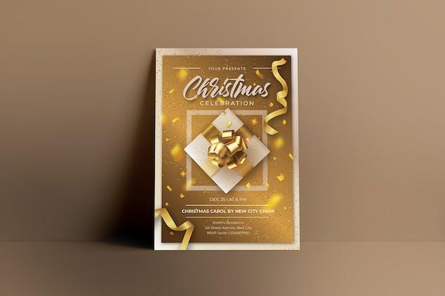 Gold Christmas Celebration Flyers