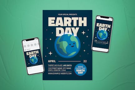 Earth Day Flyer Set