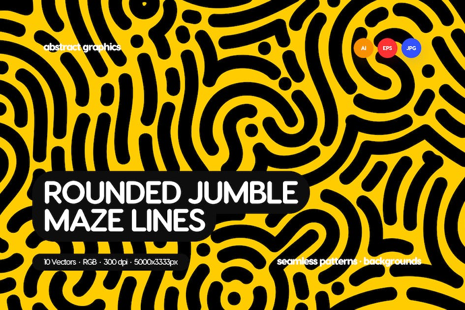 Download Organic Rounded Jumble Maze Lines by themefire