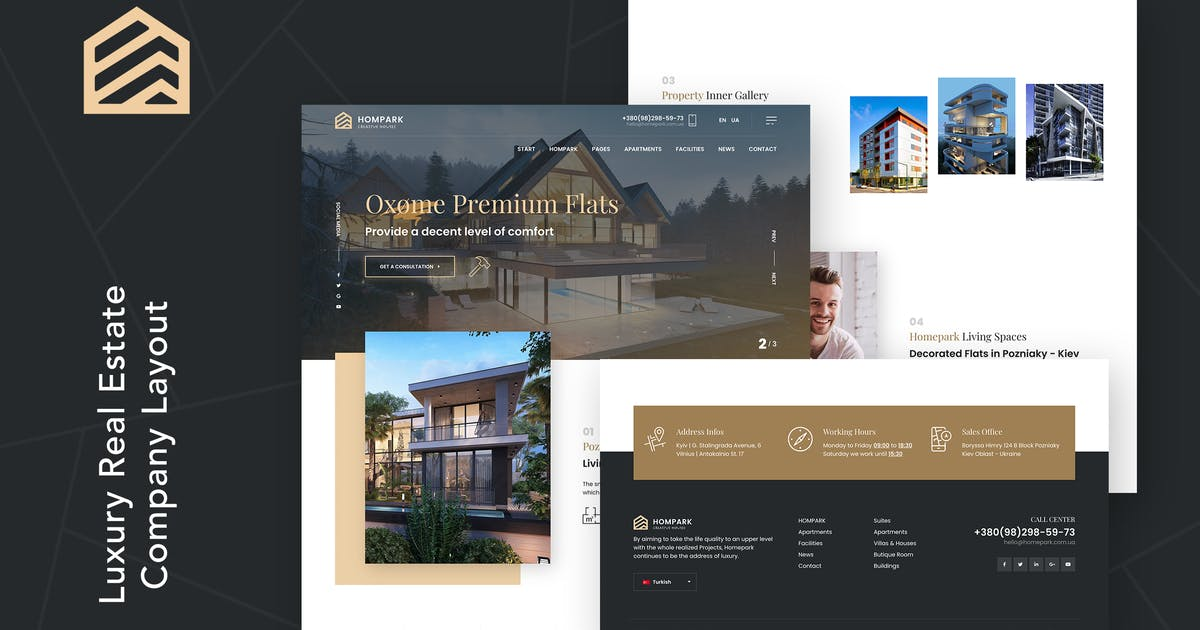 Download Hompark   Real Estate & Luxury Homes Theme by themezinho