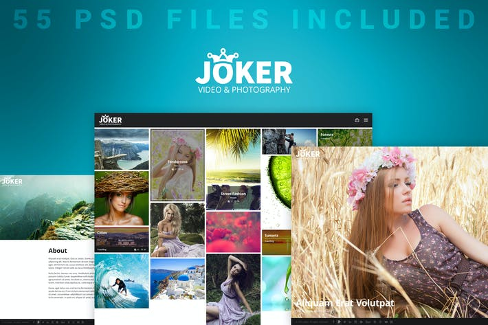 Thumbnail for Joker - Photo & Video Portfolio PSD Template
