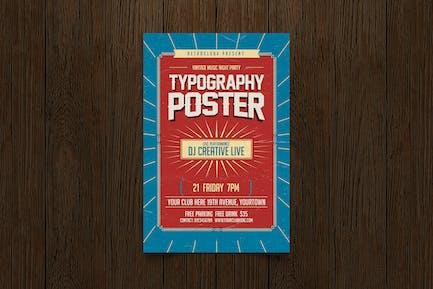 Dépliant Typographie