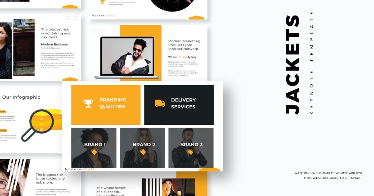 Download Jakets - Keynote Template by aqrstudio
