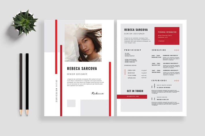 Thumbnail for Clean Resume / CV Template 09