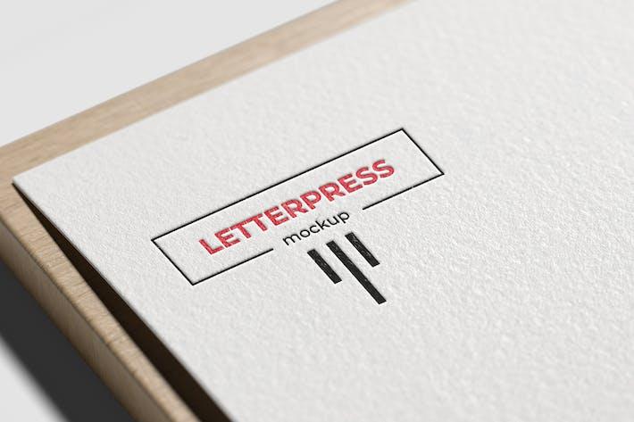 Thumbnail for Letterpress Logo Mockup