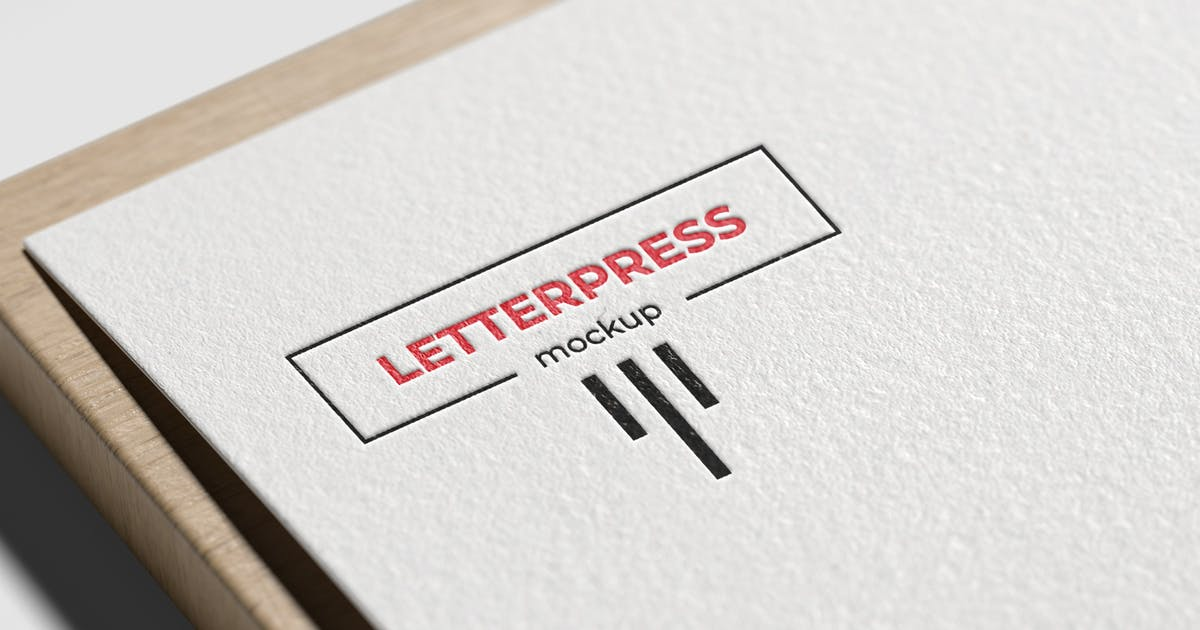 Download Letterpress Logo Mockup by graphiccrew