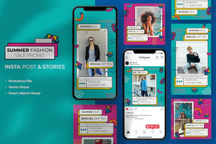Thumbnail for Summer Fashion Sale Instagram Stories