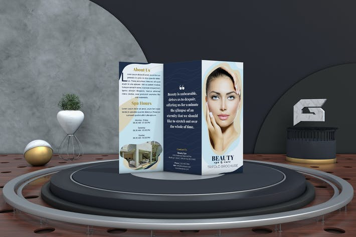 Thumbnail for Beauty Spa Trifold Brochure