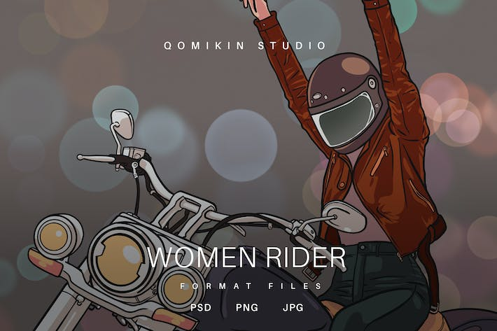 Thumbnail for Women Rider Illustration