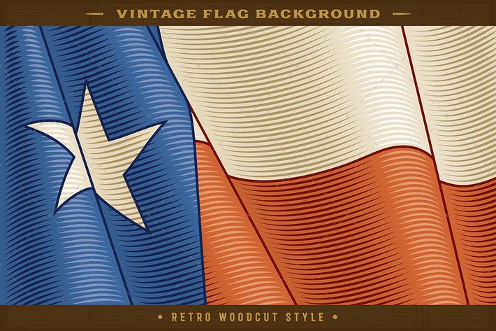 Thumbnail for Vintage Texas Flag Background