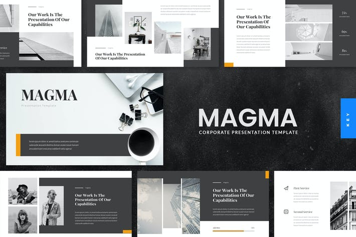 Thumbnail for Magma - Corporate Keynote Presentation Template