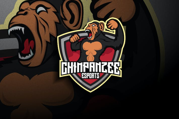 Thumbnail for Chimpanzee Esports - Mascot & Esport Logo