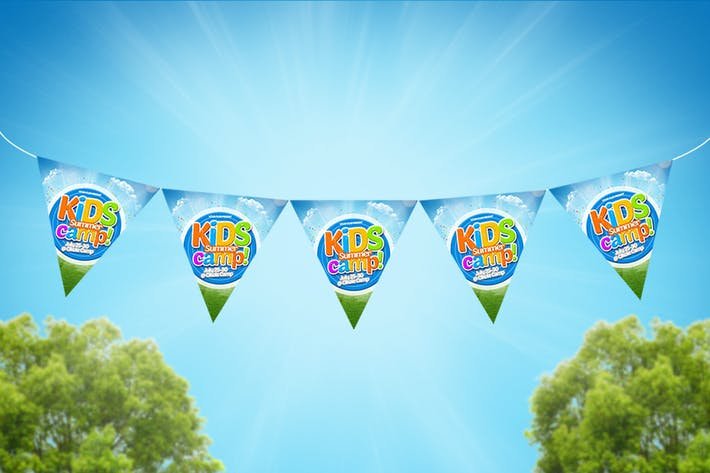 Thumbnail for Kids Summer Camp Flag Chain