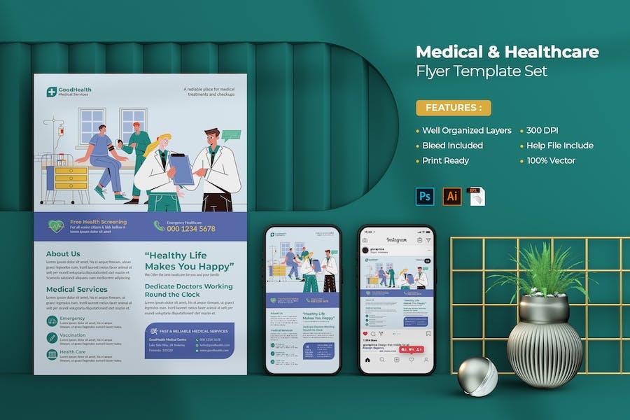 Medical Flyer Design Set