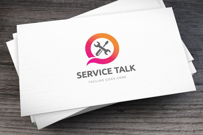 Cover Image For Service Talk Logo Template